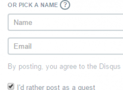 How to leave a post without registering
